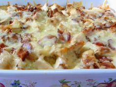 CHICKEN FLORENTINE CASSEROLE    Wow, you are going to love this casserole, I think!  It's awesome, in my opinion, and a ...