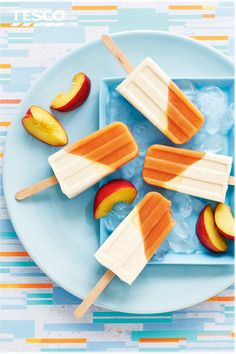 This roasted nectarine and miso ice lolly recipe is the perfect frozen treat. Salty-sweet white miso combines with honey to give a rich caramel flavour that perfectly complements the nectarine.