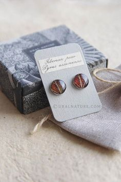Autumn leaf resin stud earrings - resin jewelry with brown leaves - autumn fall finds Gold Rings Jewelry, Resin Jewelry, Jewelry Crafts, Handmade Jewelry, Circle Earrings, Stud Earrings, Silver Earrings, Silver Ring, Leaf Earrings