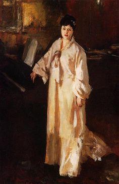 Page: Judith Gautier Artist: John Singer Sargent Completion Date: c.1885 Style: Realism Genre: portrait Technique: oil Material: canvas Dimensions: 99.1 x 62.2 cm Gallery: Detroit Institute of Arts, Detroit, MI, USA