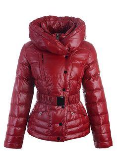 Doudoune Vest Femme Col Double Rouge - doudoune solde