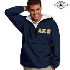 Alpha Kappa Psi Pullover Jacket - Charles River 9905 - TWILL