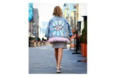 Cool trendy High end quality hand painted denim jacket - The Hobo Society