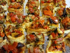 Italian bread with vegetables.