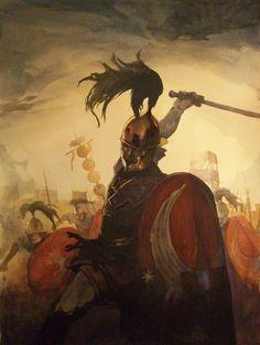 "Roman legions, Gallic War. Artwork from the book ""The Gallic War"" by Tarek and Vincent Pompetti"