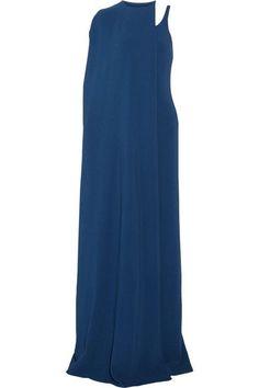 Stella McCartney - Mirabella Cape-effect Stretch-cady Gown - Cobalt blue - IT48