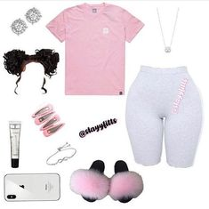 Trendy Outfits for Teens Cute Lazy Outfits, Baddie Outfits Casual, Swag Outfits For Girls, Teenage Girl Outfits, Cute Swag Outfits, Girls Fashion Clothes, Teen Fashion Outfits, Girly Outfits, Grunge Outfits