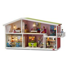 "What little girl doesn't love dollhouses? My four year old Paige is no exception. In fact, she recently outgrew the Dora house she's played with for two years and it was time for a ""big girl"" dollhouse for her. I had just started pricing them out and shopping around for Christmas so the arrival of the Lundby dollhouse couldn't have been more perfect!"
