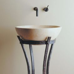 Each U0027tineu0027 That Supports The Sink Includes A Small Set Screw To Help  Adjust The Support Of Our Hand Carved Sinks. Iron Ribbon Pedestal