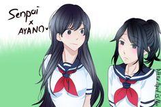 Senpai and Ayano by AfterAprilIsMay