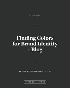 Creating a color palette for your blog