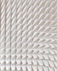 Recursive, white sculpture, detail _ by Matt Shlian _  Texture - shape - white - peak