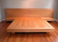 Wood King Size Platform Bed. Gallery