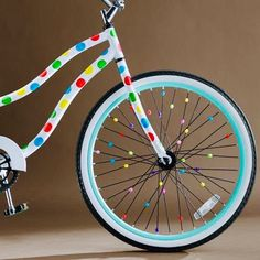 43b7ea0dff1 Peace out, boring bikes! Bike stickers and charms make these wheels  adorable.