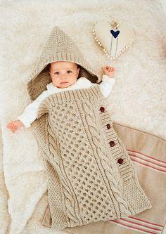 Knit but inspiring baby sleep bag