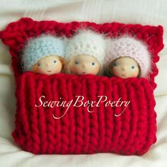 Sweet tiny babies by Sewing Box Poetry