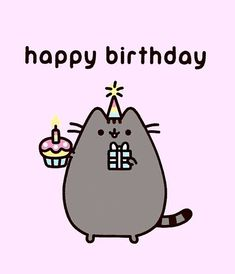 """Theresa on Instagram: """"Happy Birthday 🎂 to me. Tomorrow is my birthday 🎉 Wouldn't it be awesome Pusheen actually brings me a cupcake #pusheenlove #adorable #cat…"""" Pusheen Happy Birthday, Happy Birthday Funny, Cat Birthday, Funny Happy, Happy Birthday Cards, Birthday Bunting, Birthday Parties, Chat Pusheen, Pusheen Love"""
