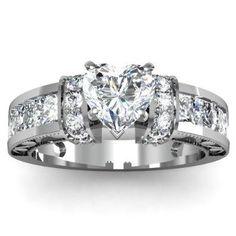 Heart Diamond Engagement Ring Set 35