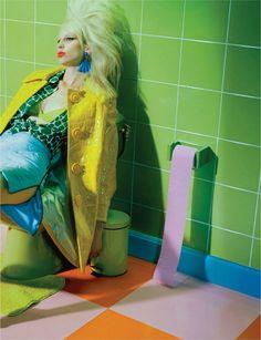"Dreaming of Dior: ""Fireworks"" Lili Sumner by Miles Aldridge for Numero France November 2015"