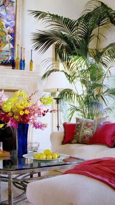 Jane Seymour's house. Gorgeous colors.
