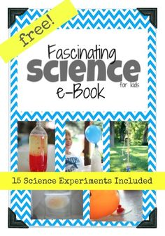 FREE Fascinating Science eBook with 15 Experiments! Preschool Science, Science Resources, Science Classroom, Science Lessons, Science Education, Teaching Science, Science For Kids, Science Activities, Science Projects