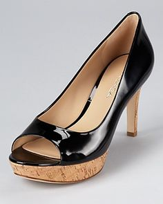 I've been looking all over for a nice pair of pumps with a cork heel