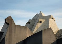 : gottfried böhm's pilgrimage church in neviges, germany, one of his masterpieces from the 1960's..