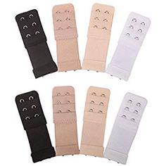64be7e3bf9 Senkary 8 Pieces Bra Extenders 2 Hook 3 Row Elastic Bra Strap Extension for  Women Lady