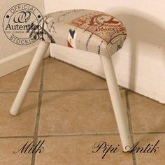 Malkestol i Milk Autentico kalkmaling