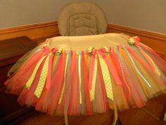 Birthday High Chair TuTu. $60.00, via Etsy.