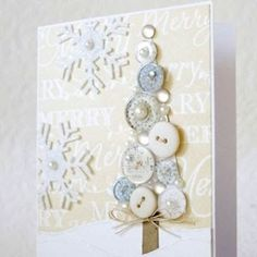 button christmas tree by lorianne