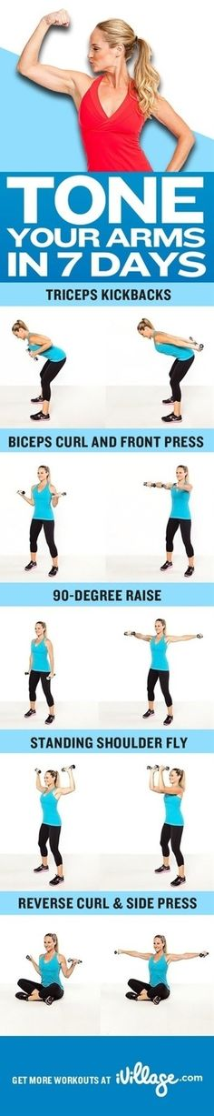 Tone your arms in 7 days…and lots of other great exercises for specific areas