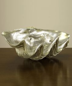 Giant Clam Shell | Silver Leafed Clam Shell