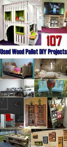 Check out this great collection of DIY projects and let your creativity go wild, grab some used wooden pallets and start building a chair, a desk, a sofa or what ever you can thing of. Just be crea...