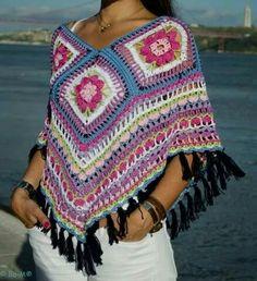Ponchos Chalecos Y Tejidos A Mano Crochet