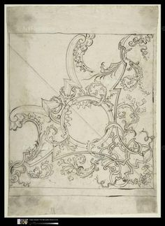 Architectural drawing & design, ceiling, pen and ink Art Nouveau, Ornament Drawing, Wow Art, 3d Prints, Ceiling Decor, Designs To Draw, Drawing Designs, Drawing Ideas, Pattern Art