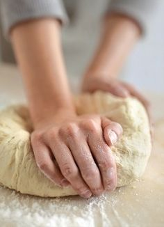 Making homemade bread and yeast rolls.  Pie crusts too... cooking is one of my passions.