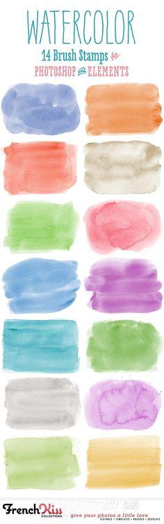 French Kiss Brush - watercolor_spots1_pinit