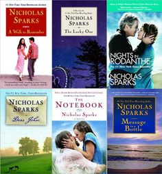 Movies based on Nicholas Sparks' books...loved them all so far!