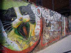 Kitteh Graffiti-Cat Street Art From Around the World, Part IV - Barcelona, Spain by Vanesa´s, via Flickr