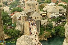 Stunning panoramic view over the historic architecture in Mostar. Visit our…