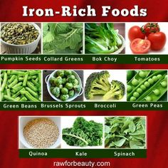 For those with low iron, consider these foods...