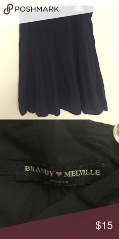 Brandy Melville Navy Skirt This dark navy blue skirt from Brandy Melville is in perfect condition and never worn. Very lightweight and a tiny bit see-through. Brandy Melville Skirts