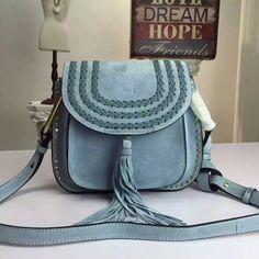 Chloe Hudson 23CM Suede Blue Bag | From Chloe Drew Bag