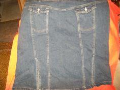 24/26W Cato  Denim, Jean, Cotton/Spandex , Blue ,Skirt w48-52 L27  2 pocket #Cato #ALine