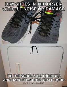 After washing a couple of pairs of tennis shoes recently, I discovered that getting them dry wasn't as easy as just tossing them in the clothes dryer. Not only did they make a terrible racket as th...