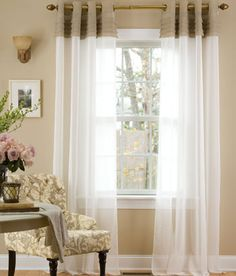 Portico Pleat Grommet Top Curtains  Oh, I hope someone wants me to make these some time....love it!