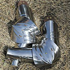 German Gothic Armor Rerebrace, Vambrace and Couter Set