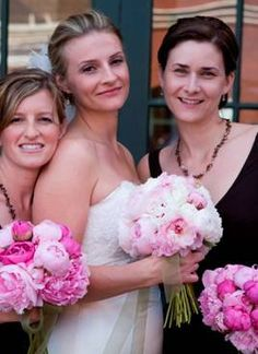 Pink Peonies - Spring Fairytale Wedding! info@fromthepottingshed.com #wedding #peonies #bride #bouquet
