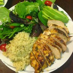 Honey Chipotle Chicken & Cilantro-Lime Quinoa by Clean and Leaner (Good-Bye Fluff, Hello Buff)